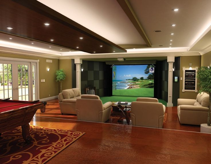 Games Room With Golf Simulator Sports Golf Simulator