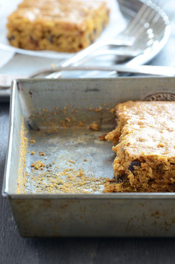 Pumpkin Chocolate Chip Snack Cake | Pumpkin recipes | Pinterest