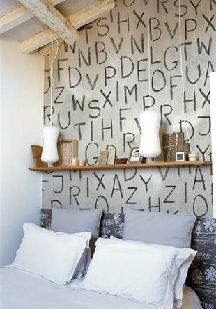 o alphabet wallpaper  Found on curbly.com