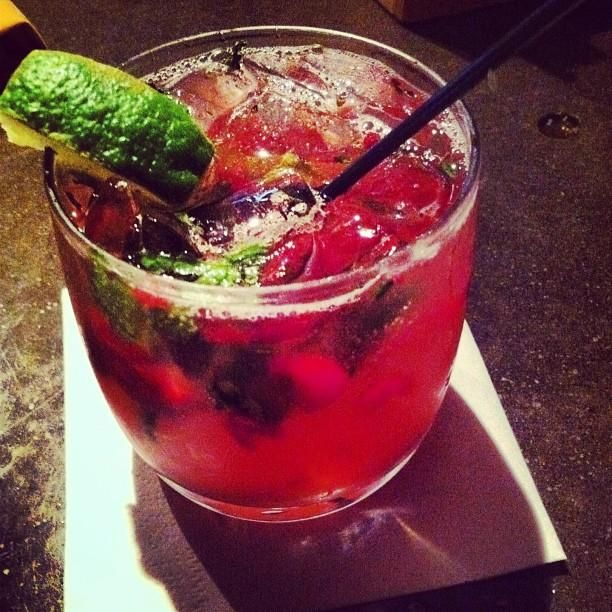 Tis the season for a cranberry mojito. Cheers!