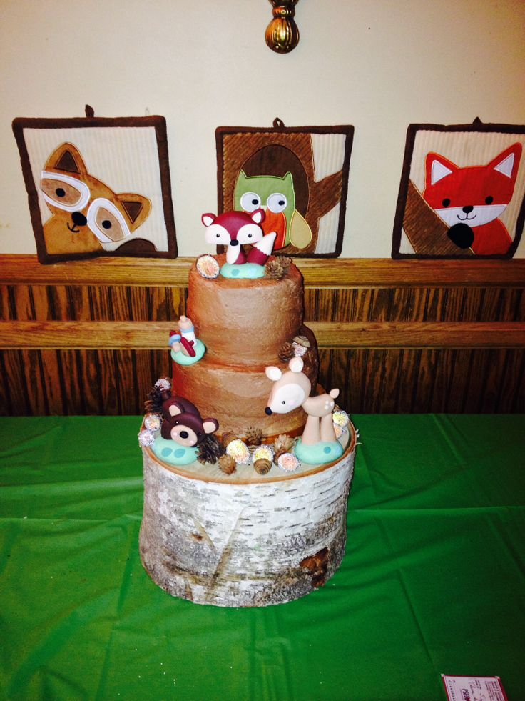 forest animals baby shower cake car tuning