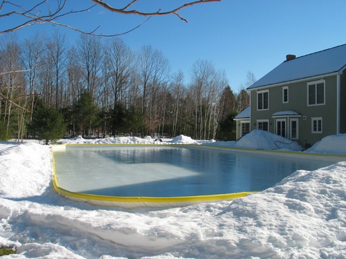 Backyard Ice Rink Kit : NiceRink 14×36 Backyard Hockey Ice Rink Kit