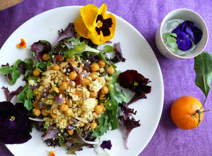 Life of Little Pleasures: Jeweled Millet with Mixed Herb Salad and ...