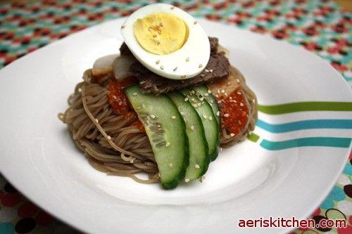 Spicy Cold Buckwheat Korean noodles | Cocina ideas | Pinterest
