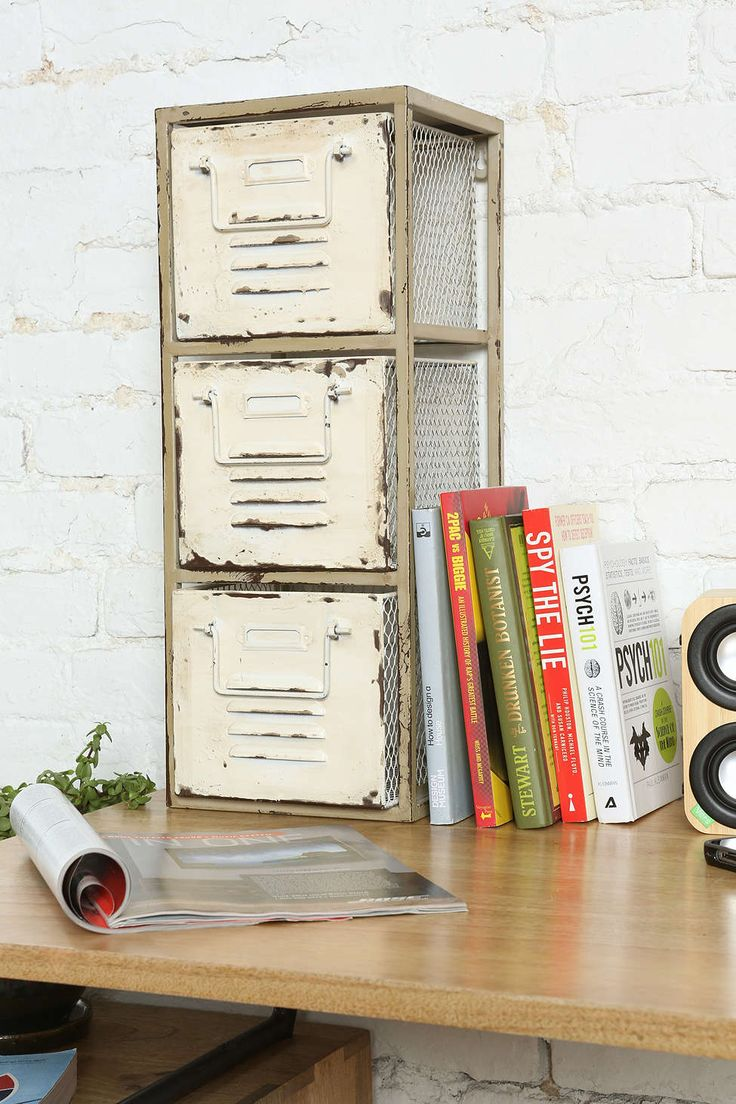 Recycled metal shelves