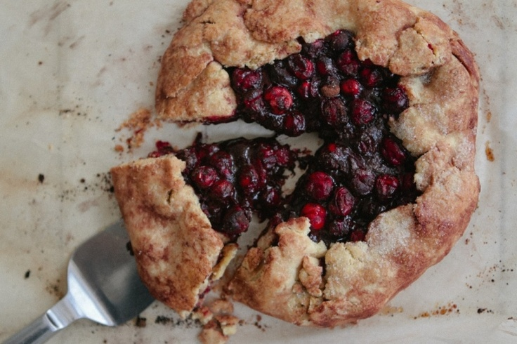 Chocolate Cranberry Galette @Brian - A Thought For Food