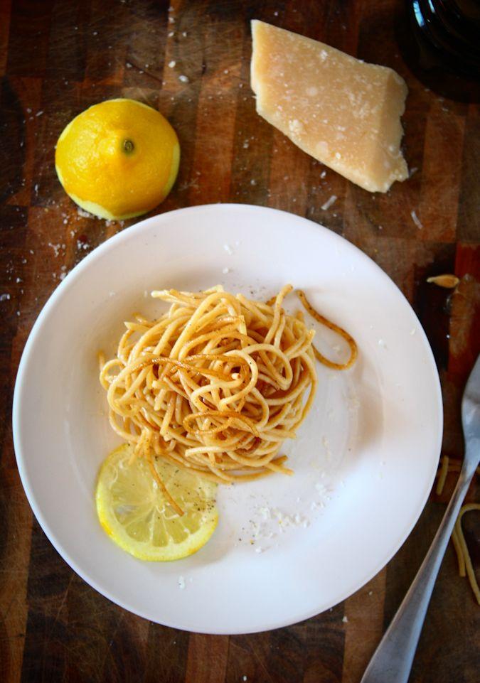 Baked Three Cheese Lemon Pepper Pasta Recipe — Dishmaps