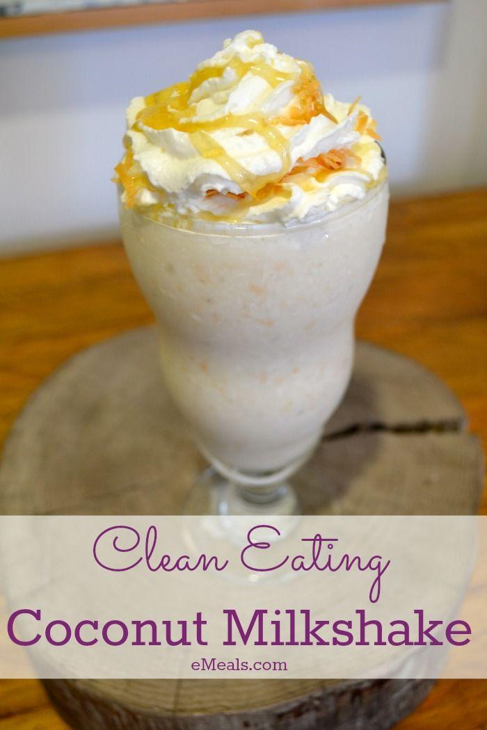 Clean Eating Coconut Milkshake. #Coconut #CleanEating