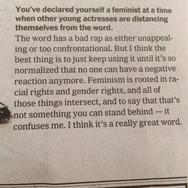 Afraid to call herself a feminist in today s new york times padgram