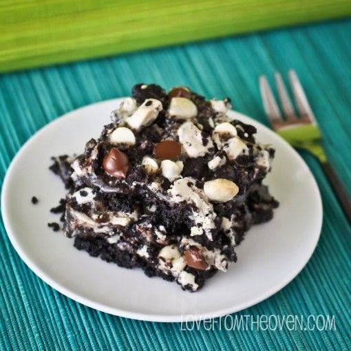 Cookies & Cream Bars. Ingredients: oreos, butter, sweetened condensed ...