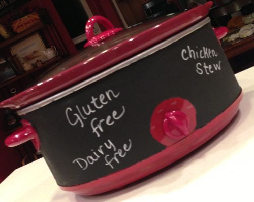crockpot painted with chalkboard paint