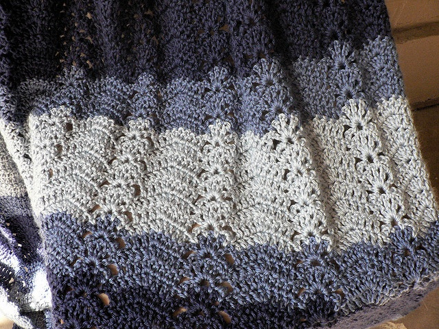 Crochet Ocean Wave : Ocean Waves Afghan (3-color) pattern by Bernat Design Studio