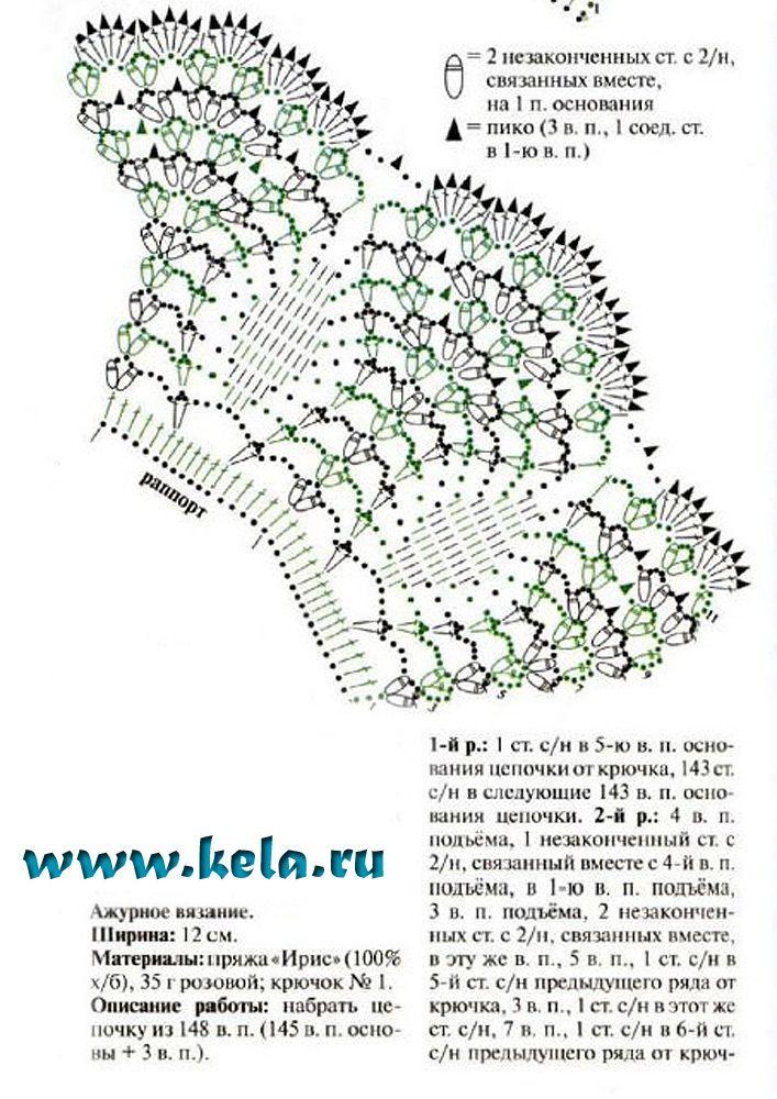 Схемы вязания воротничков крючком с описанием и схемами фото 12
