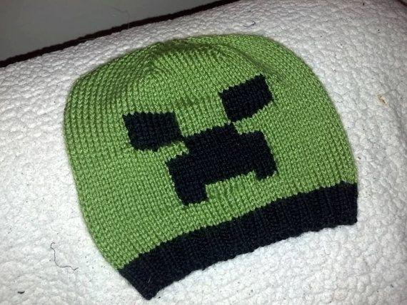 Minecraft Knitting Patterns : Minecraft Creeper Hat Pattern Inspiration Picture Apps Directories