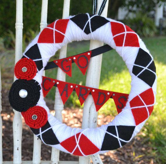 University of Louisville argyle wreath