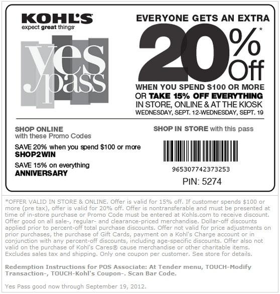 Kohls printable coupons may 15 2018