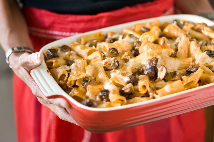 Baked Pasta with Sausage, Mushrooms and Fontina - Read More at Relish ...