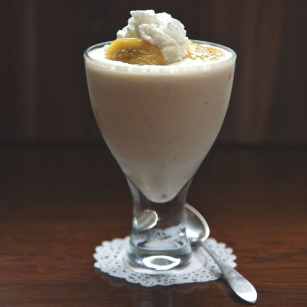"Bananas Foster Shake - I ""healthified"" this by doing the first step..."