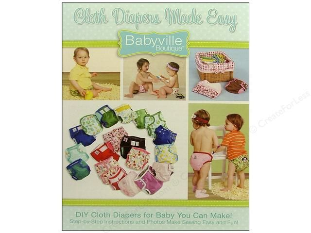 Dritz Babyville Cloth Diapers Made Easy Book