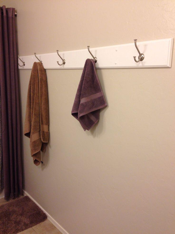 Diy Bath Towel Hook Holder Home Ideas Pinterest