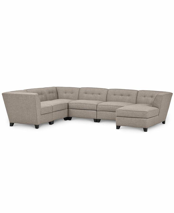 Harper fabric 6 piece modular sectional sofa 2 square for Harper fabric 6 piece modular sectional sofa