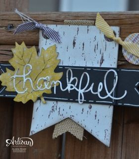 Love this alternate way to use the Thankful Tablescape kit!
