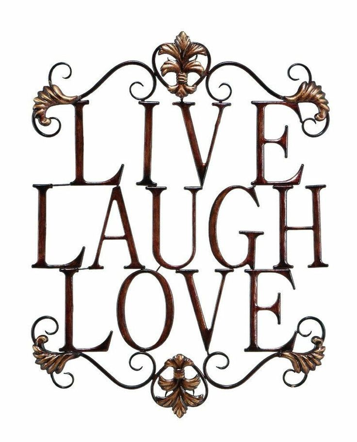 Live laugh love metal wall art home kitchen bedroom indoor for Live laugh love wall art