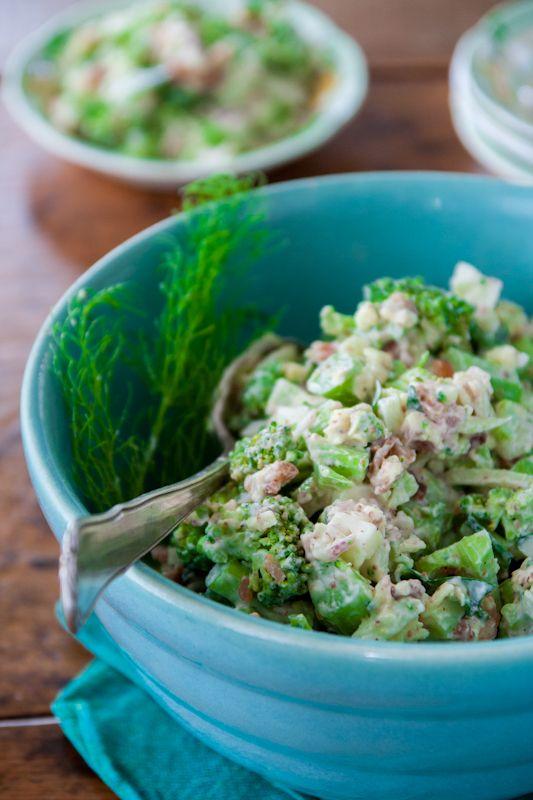 broccoli cheddar salad with bacon