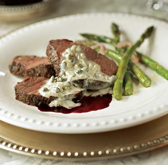 Beef Tenderloin with Caper Sauce and Wine Reduction via Traditional ...