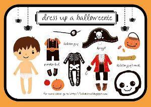 Printable Halloween Paper Dolls - boy costumes