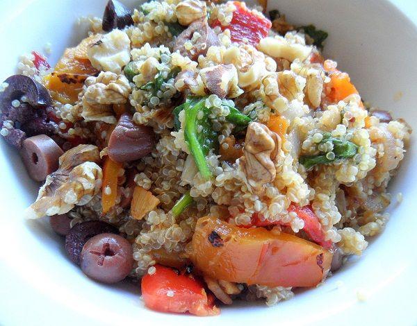 Roasted Red Pepper And Feta Quinoa Salad Recipe — Dishmaps