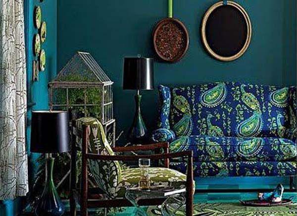 Peacock Home Decor Bohemian Pinterest