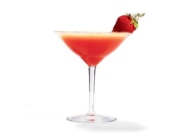 Strawberry Shag 1 pint sliced berries 2 basil leaves 1½ cups powdered ...