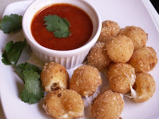 Fried Mozzarella Balls | Super Bowl and Bar Food | Pinterest