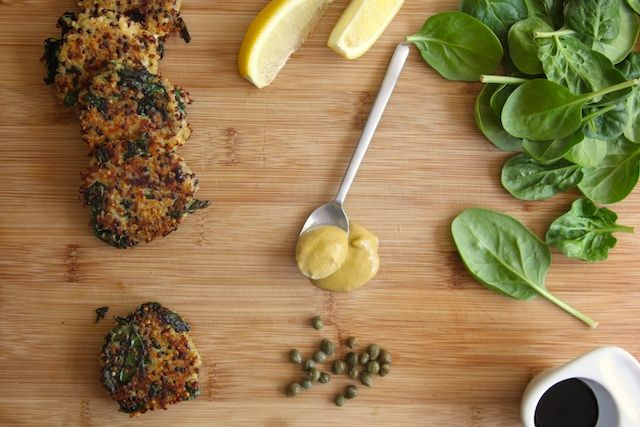 Kale and Quinoa Cakes by joy the baker. Got my 2 year old and 8 month ...