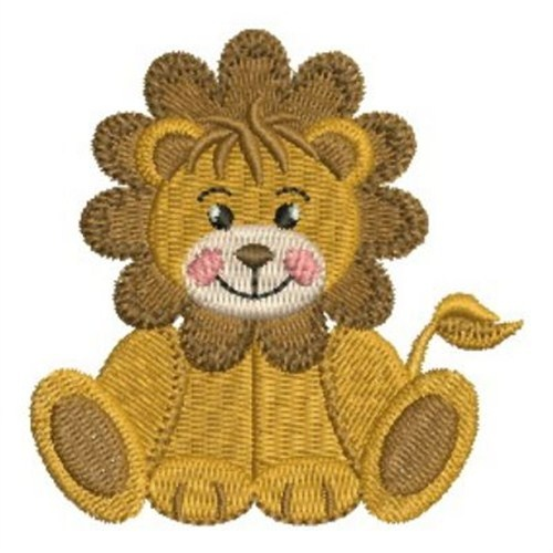 Sitting Baby Lion Embroidery Design  Applique And