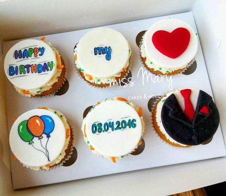 Капкейки на день рождения мужу своими руками 1