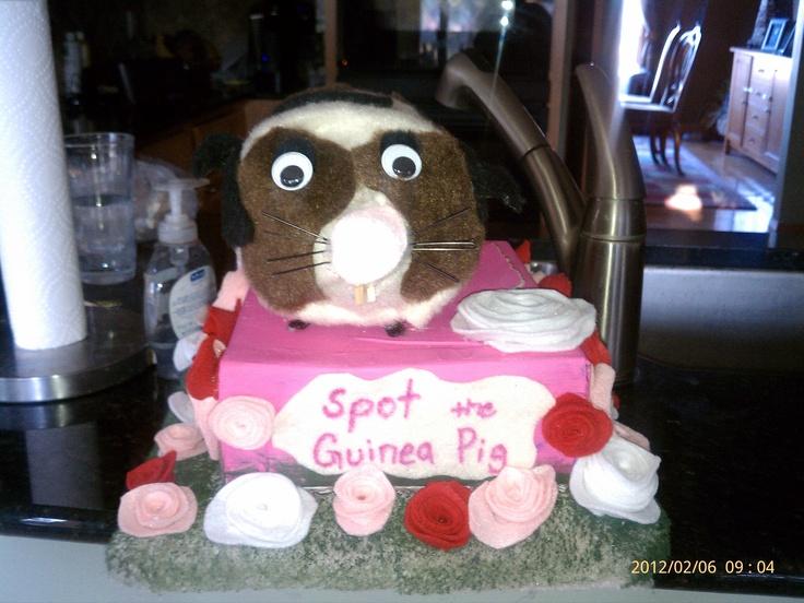 Hannah's Guinea Pig Valentine box