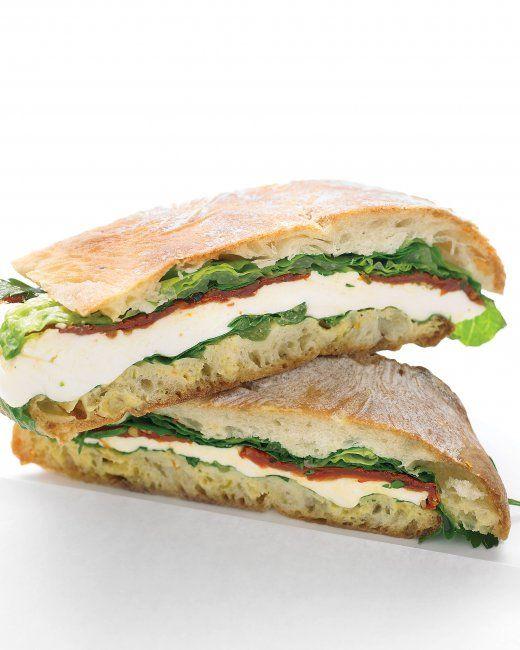 Pressed Mozzarella and Tomato Sandwich   Food - yum!   Pinterest