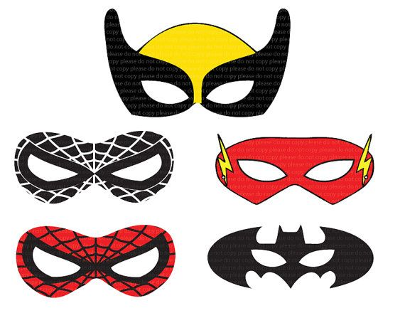 Slobbery image pertaining to free printable superhero masks