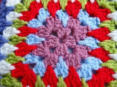 Bunny Mummy: Granny Square and Spike Stitch pattern
