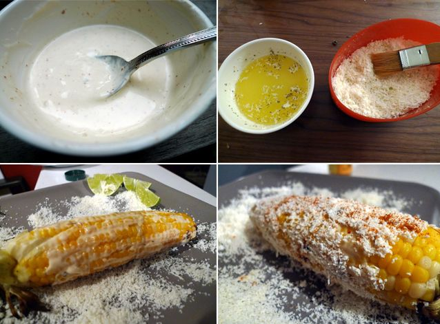 ELOTE (MEXICAN GRILLED CORN ON THE COB) | Manger | Pinterest