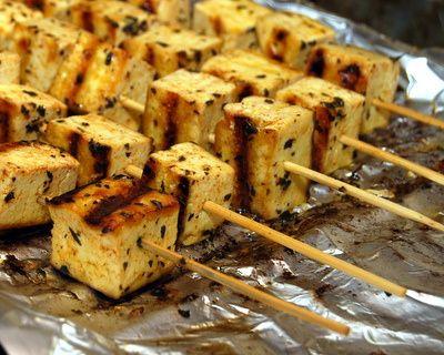 Greek-inspired grilled tofu, made with olive oil, garlic, lemon zest ...