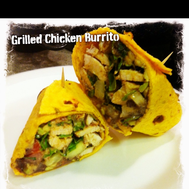 Black Bean and Grilled Chicken Burrito with Chipotle Avocado Mayo ...