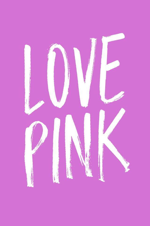 love pink iphone wallpaper pinterest