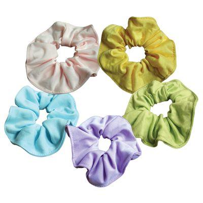 80 s pastel hair tie scrunchies mix colors 12 pack 6655