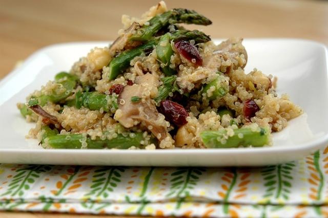 quinoa shitake amp asparagus salad yummy amp healthy