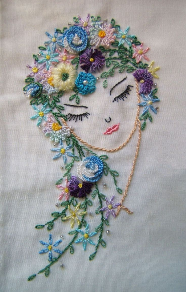 I  embroidery . . . beautifully done,  Brazilian Dimensional Embroidery