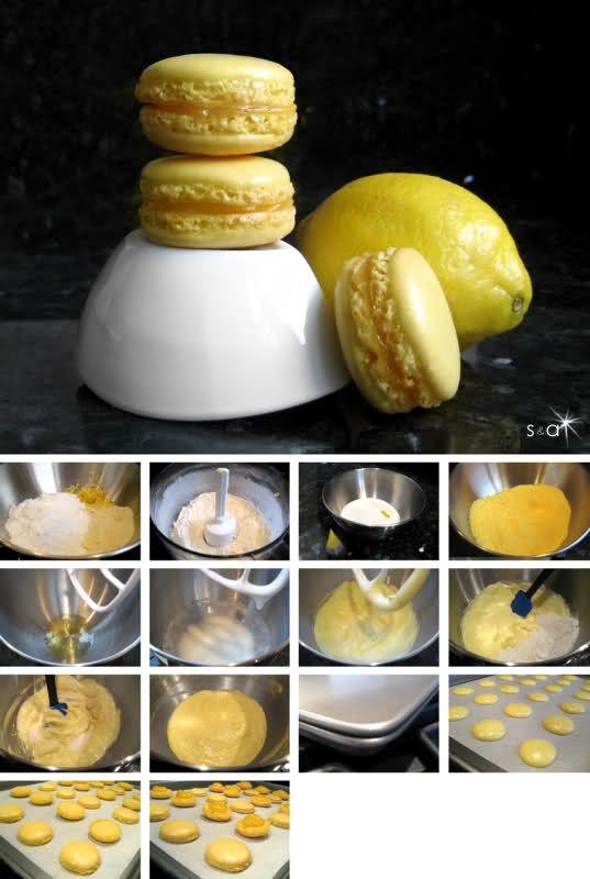 Lemony Lemon Curd Macarons | Macaron Obsession | Pinterest