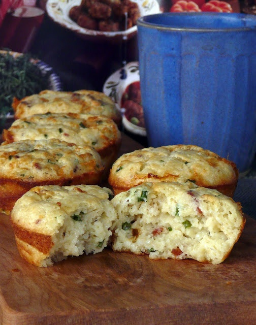 love these muffins. Loaded with cheddar cheese, crisp bacon and chives ...
